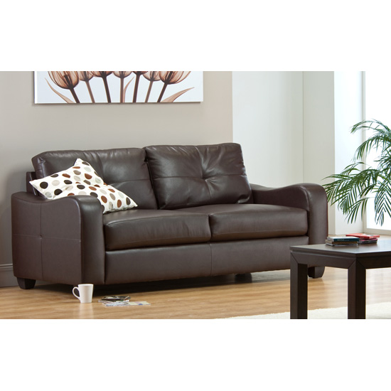 Photo of Boca 2 seater brown leather sofa