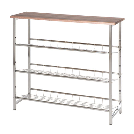 Bodo 3 tier metal shoe rack 44238 ebay - Etagere metallique modulable ...