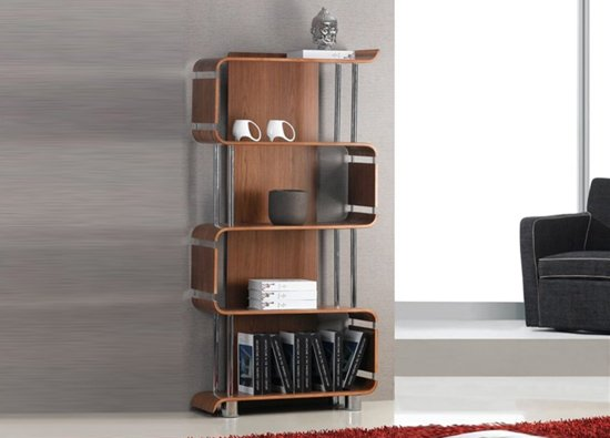 Bookshelf BS201 walnt - How To Furnish Any Interior With Stylish Wooden Sideboards And Bookshelf
