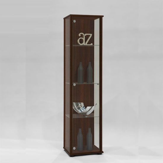 marine modern glass display cabinet in mocha