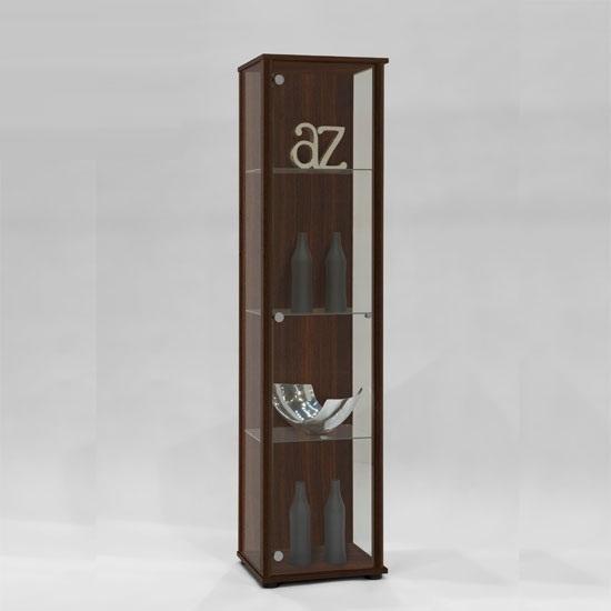 Marine Modern Glass Display Cabinet In Mocha 11062