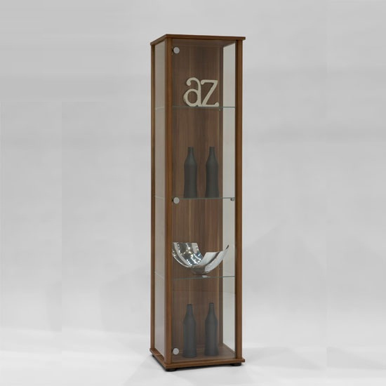 marine contemporary glass display cabinet in plumtree