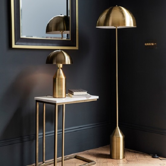 Nopal Contemporary Floor Lamp In Brusshed Brass Finish_2