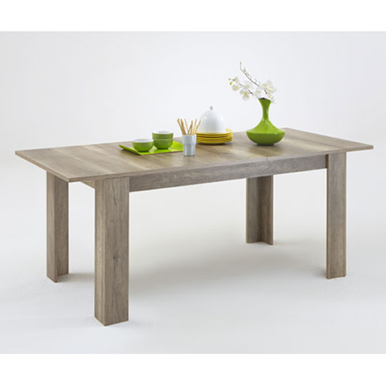 Monalisa Extendable Dining Table In Wild Oak