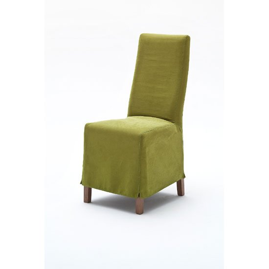 Casper Upholstered Fine Fabric Green Faux Leather Dining