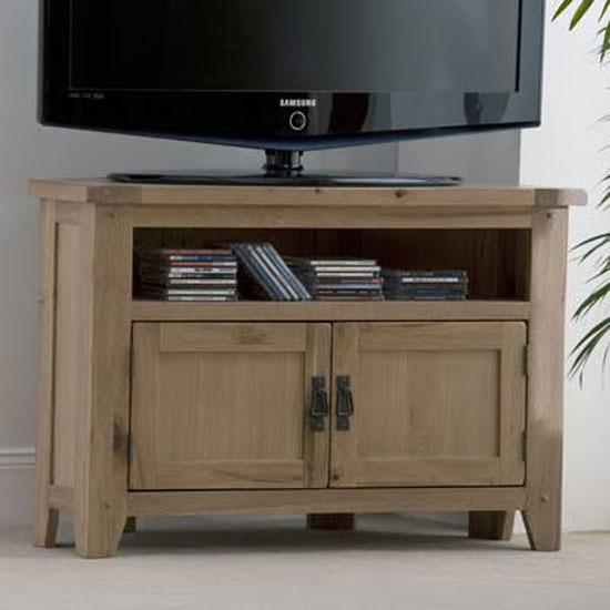 Corrick Corner TV Unit In American White Oak