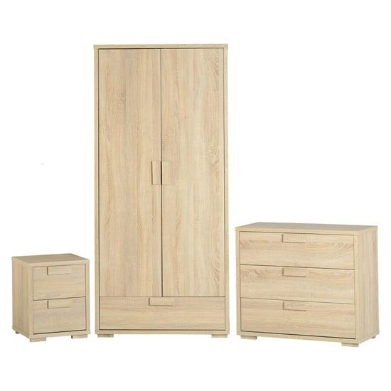 Gambon Sonoma Oak Bedroom Set