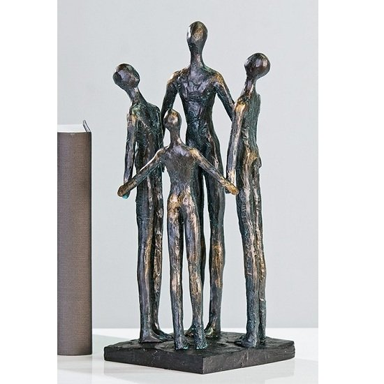 Group Sculpture In Bronce With Black Base