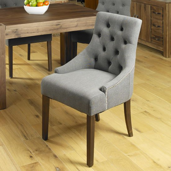 Harry Dining Upholstered Chair In Slate Pair of Two