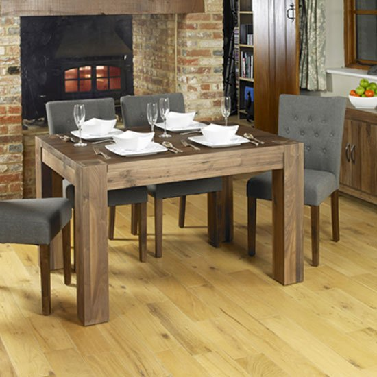 Norden Wooden Dining Table In Walnut