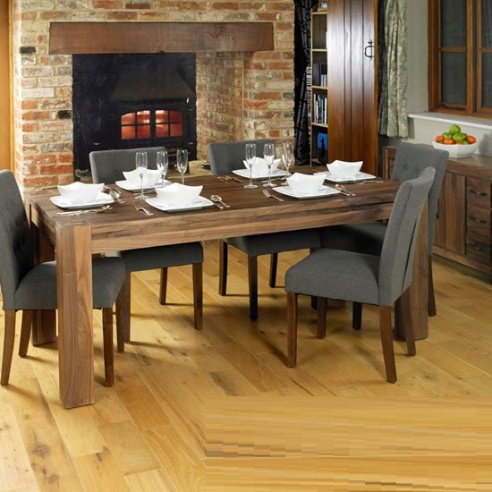 morden wooden dining table wide in walnut