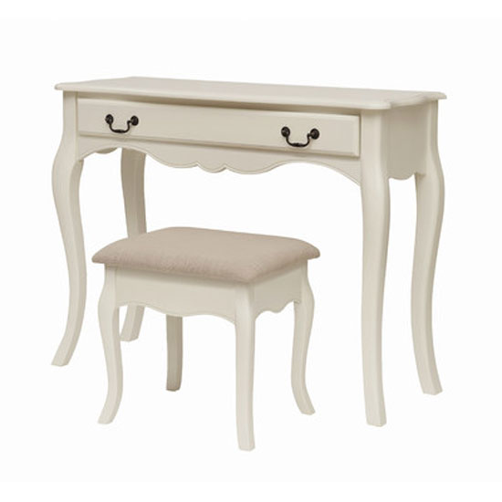 CHANTDRESS+CHANTSTOOL LPD - Bedroom Essentials You Haven't Thought Of: White Dressing Tables With Mirror And Stool
