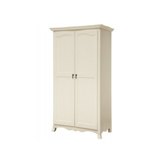 Chanty Off White Finish 2 Door Wardrobe