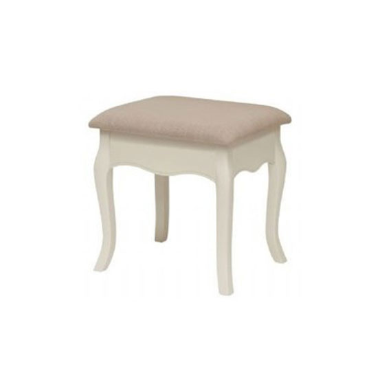 Chanty Dressing Table Stool In Off White