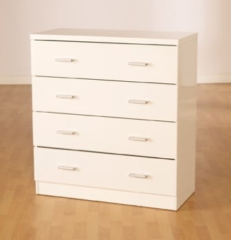 Stefan High Gloss White 4 Drawer Chest