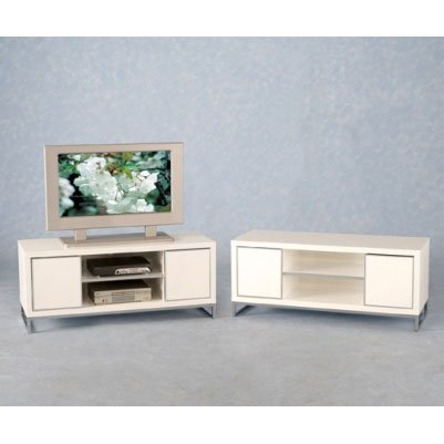 Stefan White Gloss TV Stand