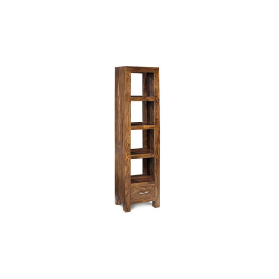 Cube Sheesham Slim Jim Bookcase Unit