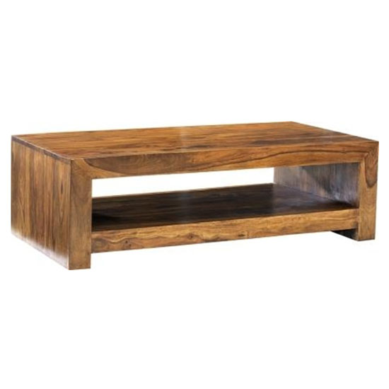 Cube Sheesham large Contemporary Table