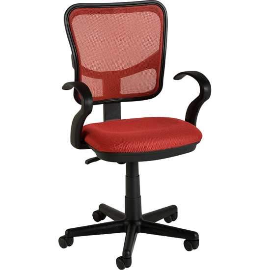 computer office chair in red clifton computer office chair in red