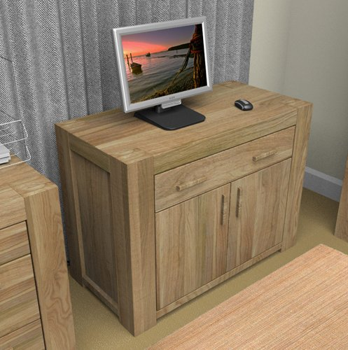 Malta Solid Wood Hidden Home Office Desk Computer Desks Workstations Home Office