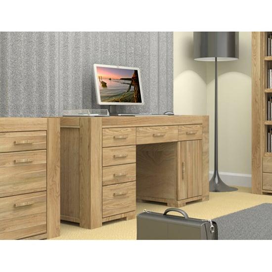 Malta Twin Pedestal Home Office Desk Buy Wooden Computer Desk Furnitureinfashion Uk