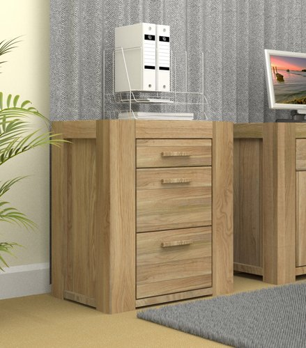 Malta Solid Wood Filing Cabinet