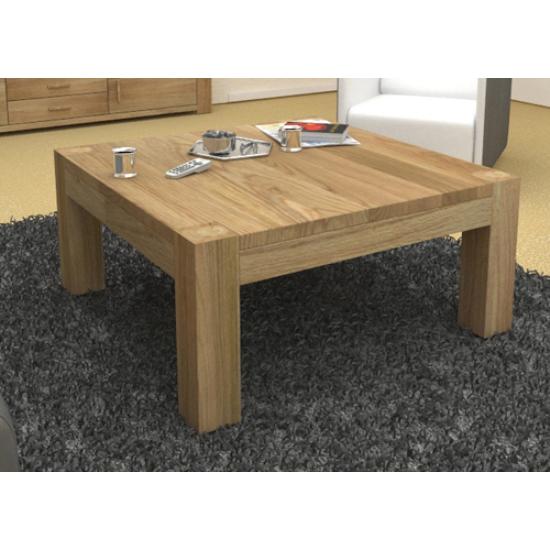 Mango wood john long coffee table with 2 cube stools for Long coffee table with storage