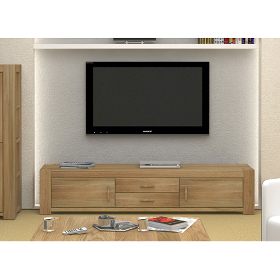Malta Solid Wood Widescreen Television Cabinet With Doors