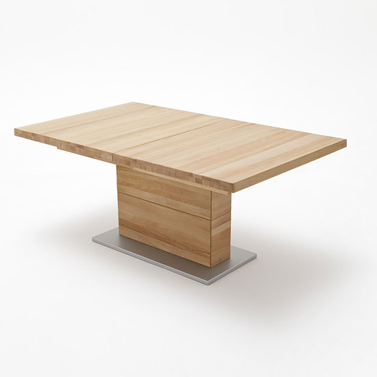 Corato Extendable Dining Table Rectangular In Core Beech