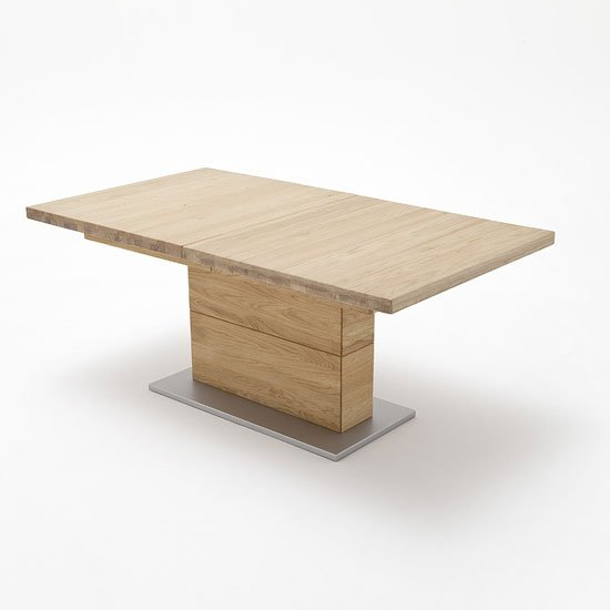 Corato Extendable Dining Table Rectangular In Wild Oak