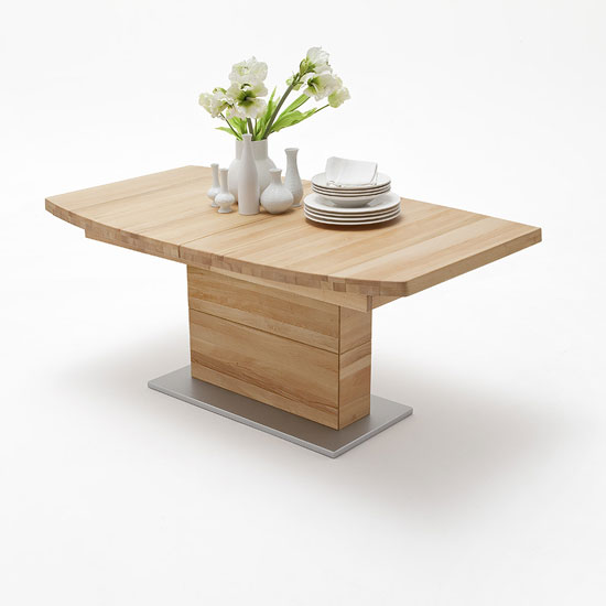Corato Extendable Dining Table Boat Shape Large In Core Beech