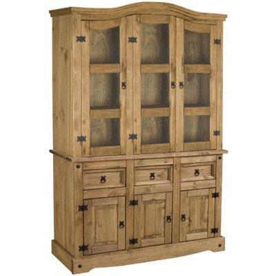 capri pine small buffet and hutch. Black Bedroom Furniture Sets. Home Design Ideas
