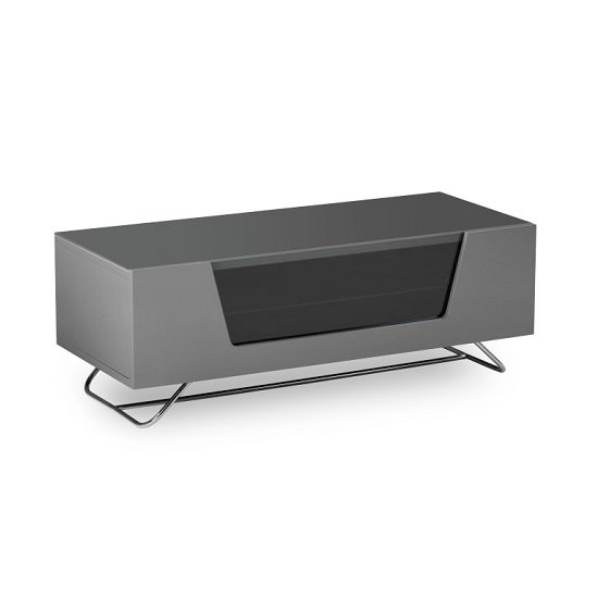 Romi LCD TV Stand In Grey With Chrome Base_6
