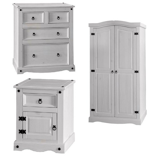 white bedroom furniture sets asda ikea for adults coroner set washed pine