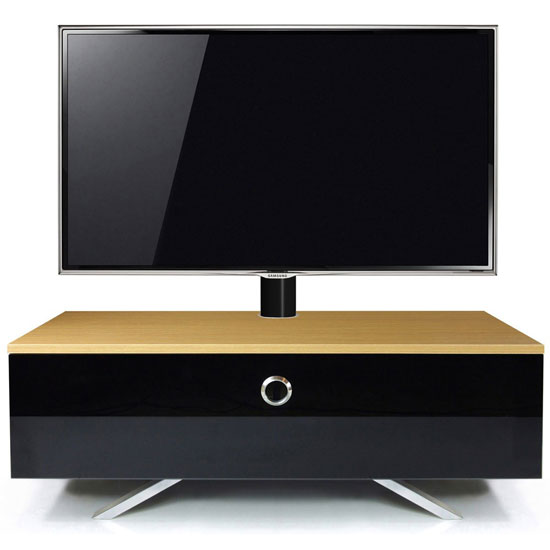 Cameo Hybrid Cantilever LCD TV Stand In Oak