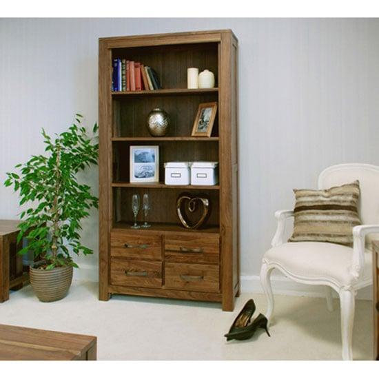 Sayan Walnut Large 4 Drawer Bookcase