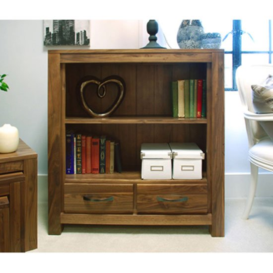Sayan Walnut Low Bookcase