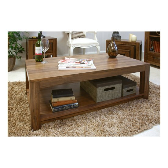Sayan Walnut Open Coffee Table