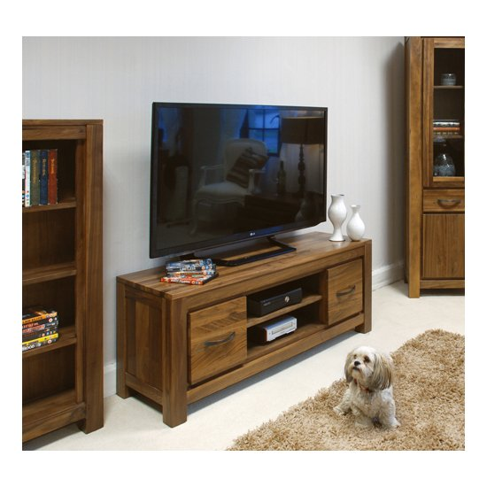 Sayan Walnut Widescreen Television Cabinet