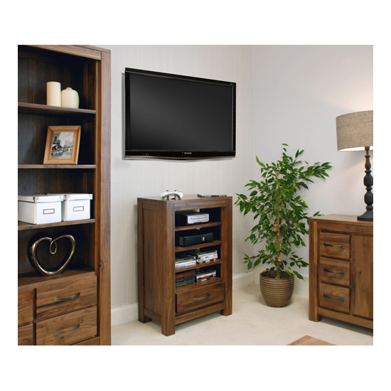 Sayan Walnut Entertainment Ancillaries Storage Unit