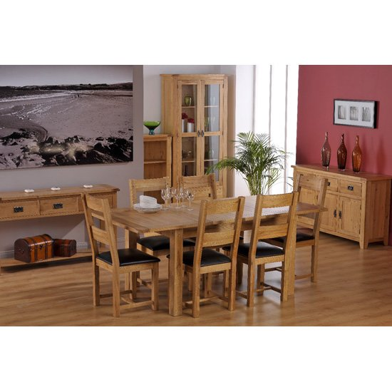 Corrick Wooden Extending Dining Table With 6 Dining Chairs