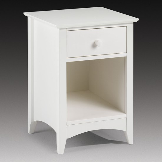 Amani Bedside Cabinet In White With 1 Drawer