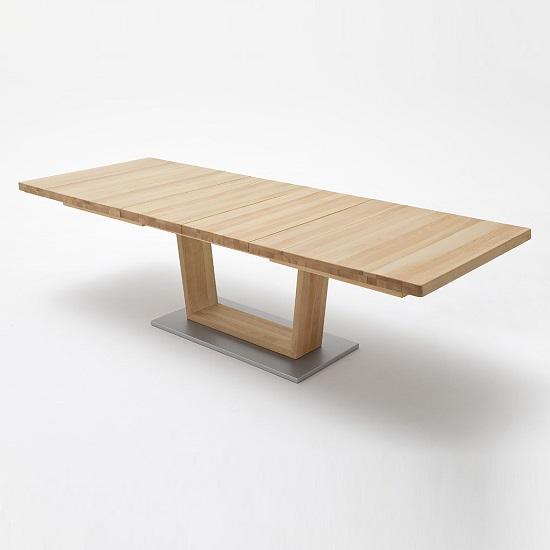 Cantania Extendable Large Dining Table Rectangular In Core Beech