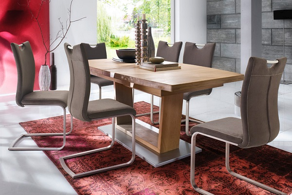 Cantania Dining Table Rectangular In Core Beech And 6 Pavo Chair_6