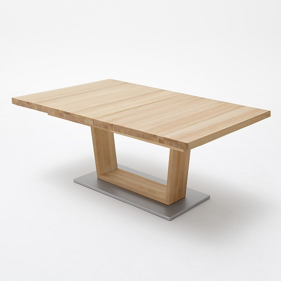 Cantania Wooden Extendable Dining Table In Core Beech