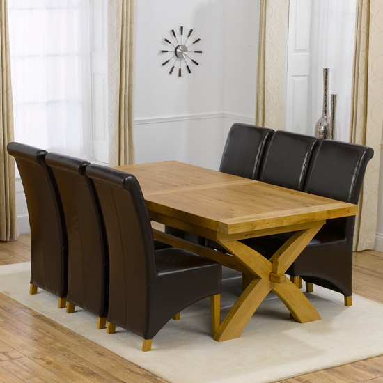 Avignon Extending Dining Table Set With 6 Barcelona Dining Chair