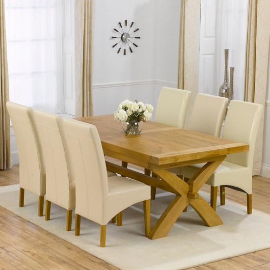 Avignon Extending Dining Table And 6 Roma Dining Chairs