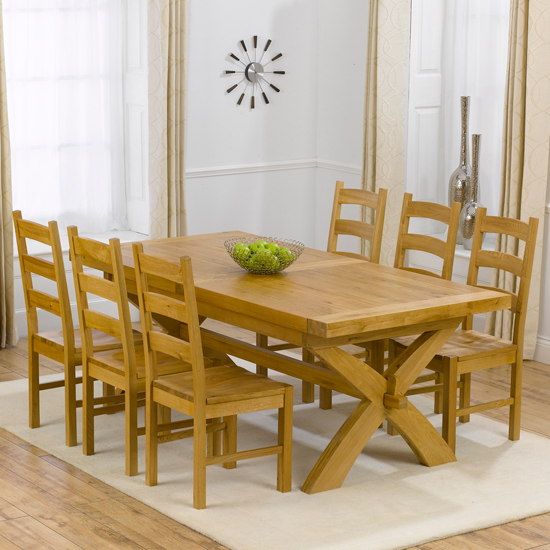 Avignon Extending Dining Table And 6 Hannover Dining Chairs