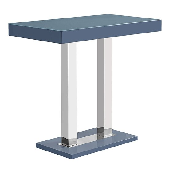 Caprice Glass Bar Table In Grey And Stainless Steel Support_2