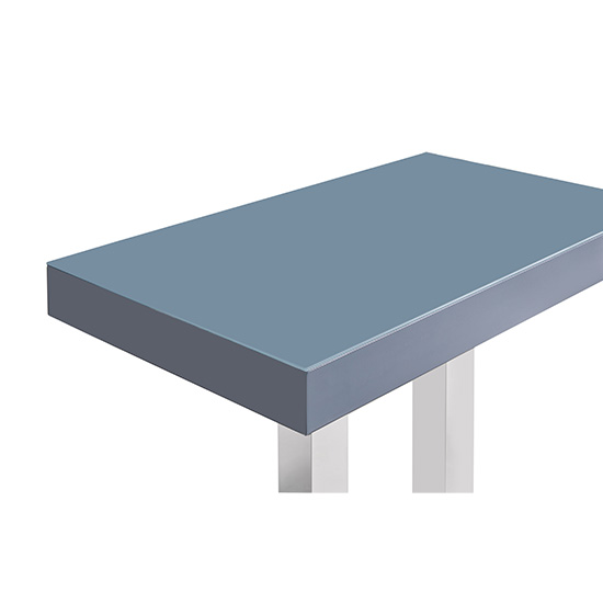 Caprice Glass Bar Table In Grey And Stainless Steel Support_3